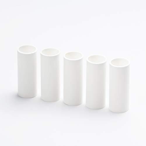 5x E14 Kerzenhülse L. 65mm ø26mm glatt Kunststoff Weiß für Kerzenfassung Kronleuchter Lüster Kerzenhülle Fassungshülse Fassung