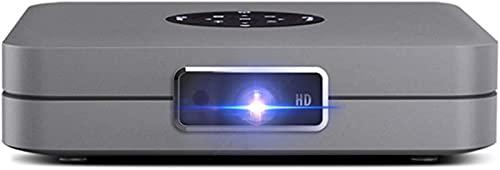 FDGSD Mini proyector 3D DLP, 4000 lúmenes Proyector de Video Android Compatible con WiFi Compatible con teléfonos Inteligentes Soporte HD 1080P HDMI/USB/Bluetooth, Ideal para Cine en casa