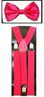CLOVER Fourseasonstore Unisexs Bow Tie /& Suspender Sets