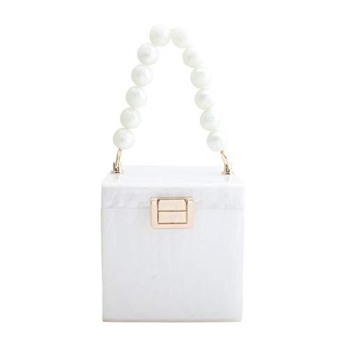 Boji Bolso de mano de mujer en forma de caja, bolso de mano, para novia, boda, noche o graduación.