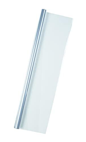 Idena 433085 - Geschenkfolie, Transparent, Größe ca. 5 m x 70 cm, Blumenfolie, Geschenkpapier, Folienrolle, Verpackung