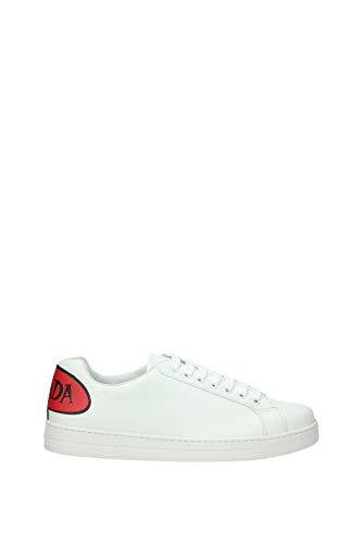 Prada Sneakers Herren - Leder (4ES299VITFUMETTOABIANCOFUOCO) 39 EU