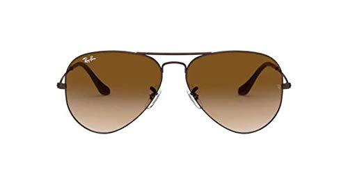 Ray-Ban RB3025, Gafas de Sol Unisex Adulto, Marrón (frame: Brown, lenses: Crystal brown gradient 014/51), Large
