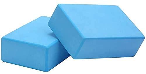 Allkpoper EVA Yoga Fitness Block Foam Brick Sports Pilates Tool Gym Workout Stretching 2pcs (Dark Blue)