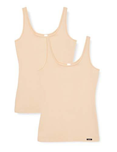 Skiny Damen Advantage Cotton Tank Top 2er Pack Unterhemd, Elfenbein (Skin 9622), 40