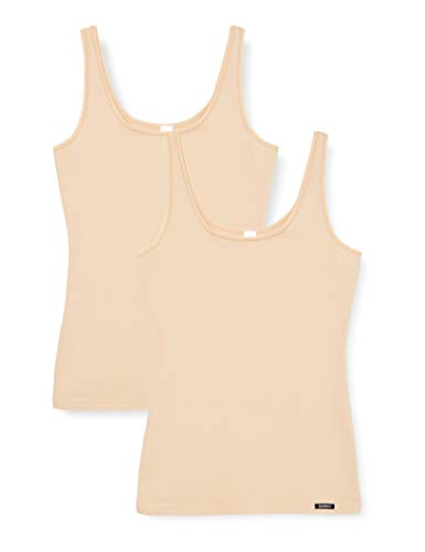 Skiny Damen Advantage Cotton Tank Top 2er Pack, Elfenbein (Skin 9622), 38