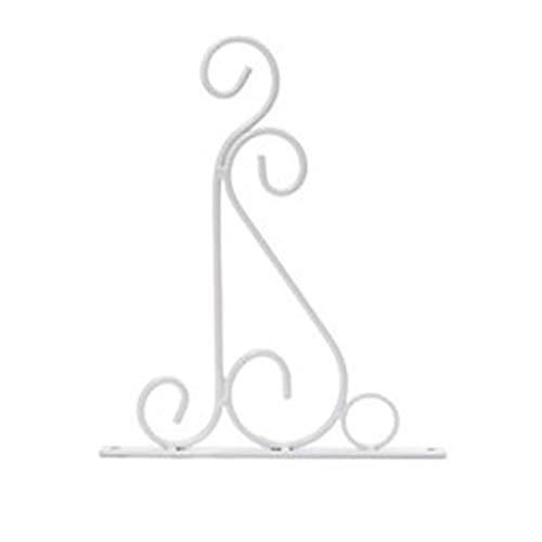 babyzhang Romantique Salle de Bains décoration Fer Classique Fleur Pot de Crochet Plantes aménagement paysager Support tenture Balcon Style européen, Blanc