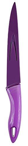 culinario Schneidemesser mit Klingenschutz, lila