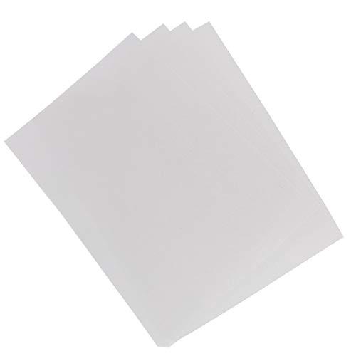 EXCEART 4Pcs Schrumpfkunststofffolie Klar Gefrostet Schrumpfende Kunstdruckpapiere für Schlüsselanhänger Anhänger Handwerk Schule Projektherstellung (Transparent)