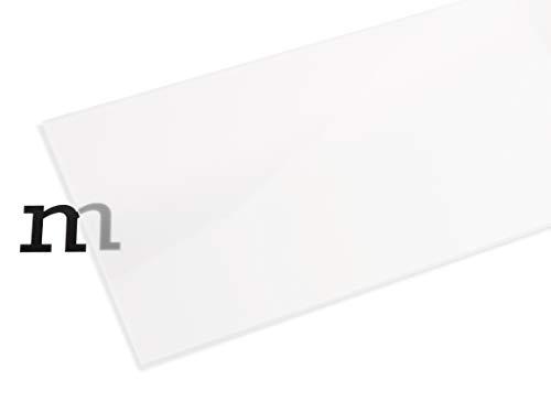 PLEXIGLAS® GS weiß (milchig), vielfältig nutzbares und bruchfestes Marken Acrylglas für Lichtobjekte etc, 3 mm dicke PLEXIGLAS® GS Platte in 25 x 50 cm, transluzent (WH17)