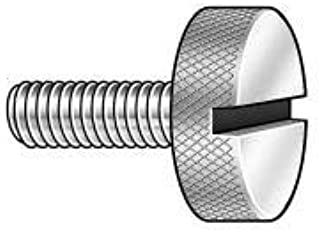 #10-32 UNF Threads Made in US Plain Finish Fully Threaded Nylatron Thumb Screw 3//4 Length Knurled Head Pack of 5