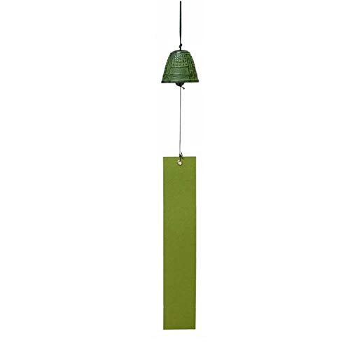 Heiyemon Japanisches Windspiel Nambu Eisen Tempelglocke grün Farbe Furin (Small)