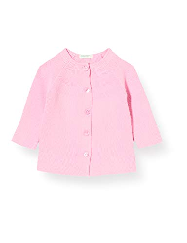 United Colors of Benetton Maglia Coreana M/l Chaqueta Punto, Rosa (Rosa 14p), 58 (Talla del Fabricante: 62) para Bebés