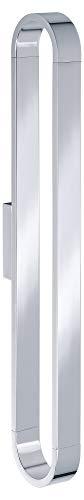 KEUCO Handtuchhalter aus Metall, hochglanz-verchromt, einarmig, vertikal, 46,5cm hoch, für Badezimmer und Gäste-Toilette, Wandmontage, Edition 300