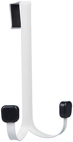 Amazon Basics - Gancho doble para colgar sobre la puerta, Blanco
