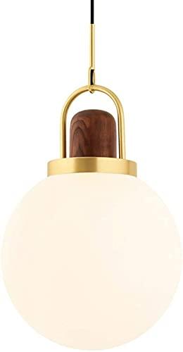 WEM Lámpara colgante moderna con pantalla de bola de vidrio blanco como la leche, accesorios de lámpara de techo para cocina, comedor, dormitorio, kits de accesorios de iluminación de suspensión simp