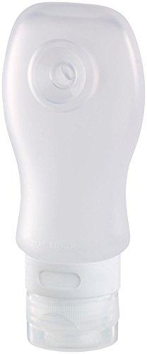 Semptec Urban Survival Technology Silikonflasche: Silikon-Reiseflasche mit Saugnapf, 89 ml, lebensmittelecht (Shampoo Behälter)