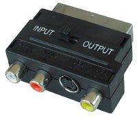 Lindy 35570 - Adattatore SCART a SVHS + 3xRCA