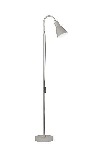 Fischer & Honsel Stehleuchte 1x E27 max.25W sand grau/nickel matt, H.121cm