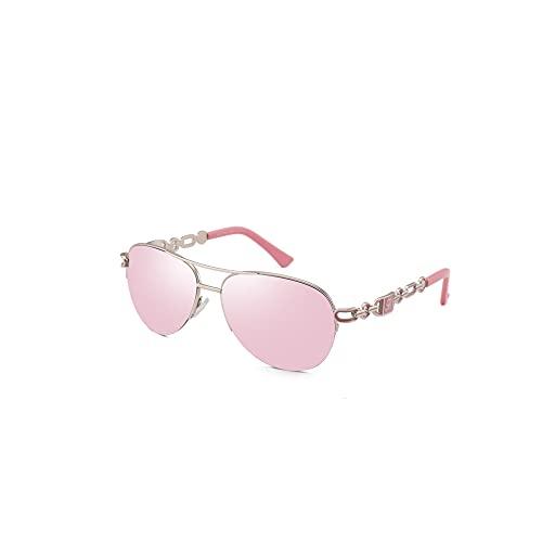 FUMKEN Pilotenbrille Damen Sonnenbrille Herren Klassisch Sonnenbrille Frauen Männer Verspiegelt Farbvariation Metall gespiegelt für Fahren Angeln Reisen CAT 3 CE