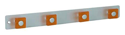 Regal Depot Aluminium hookrails mit 4ABS Kleiderbügel, blau/matt ANOD, 5Stück