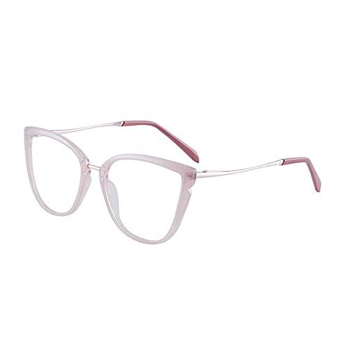 anti gafas de luz azul gafas de computadora anti-reflexión anti-rayos ultravioleta para aliviar la fatiga ocular juego de computadora gafas planas-polvo pálido_-4.0