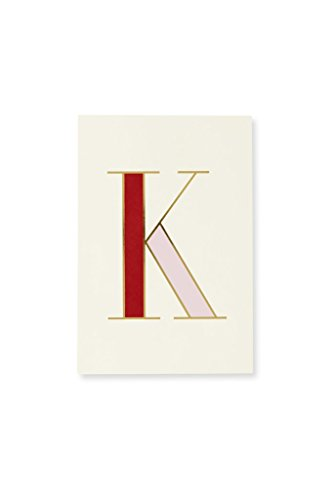 Kate Spade New York Initial Notepad with 100 Pages, K (Red)