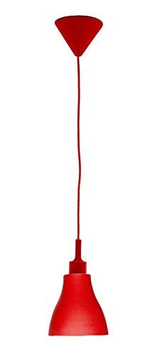Rexer Bisù kroonluchter gemaakt van silicone, rood, eenheidsmaat
