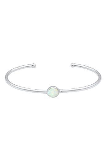 Elli Armband Armreif Bangle Synthetischer Opal Trend 925 Silber