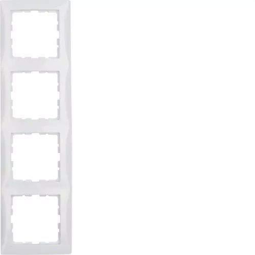 Hager S1 polarweiss Berk Rahmen 10148989 4fach glänzend