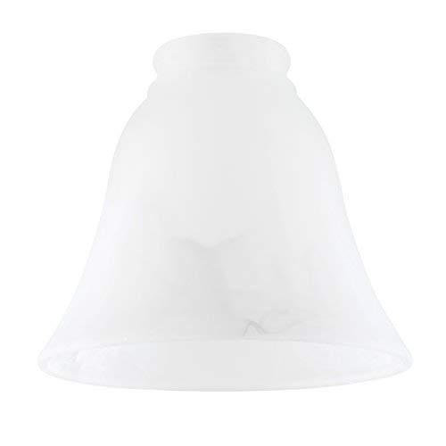 Set Di 3 - Paralume Stupendo E Moderno Di Ricambio Fatto Di Vetro Satinato Bianco