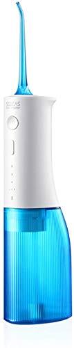 Wasserflosser Akku-Zahnreiniger SOOCAS Professional Munddusche 240ML Tragbare und wiederaufladbare Wasser-Zahnseide mit 7 Modi und 4 Jet-Tipps IPX7 Wasserdichter USB-Akku für 80 Tage Aufladen W3PRO