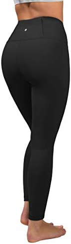 90 Degree By Reflex Squat Proof Tummy Control 7 8 Length Leggings with Back Zipper Pocket Black product image