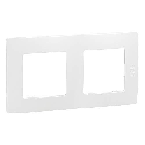 Legrand - Caja de 10 placas Nilo - (2 orificios), color blanco