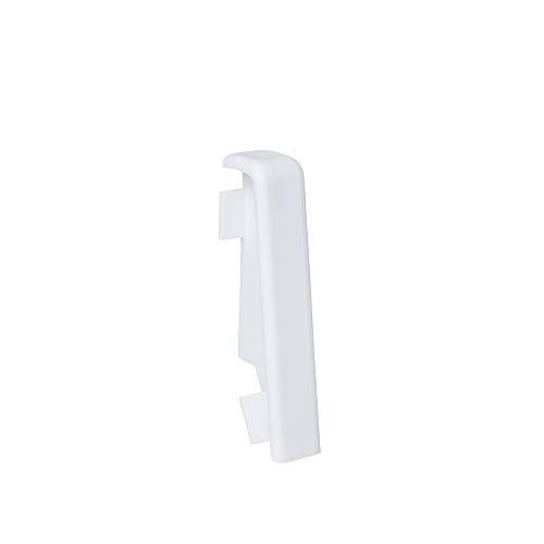 Innen- und Außenecken, Verbinder und Abschlüsse für Sockelleisten 60mm - Weiß (Verbinder)