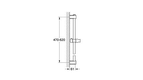 Grohe Vitalio – Barra universal de ducha (60 cm) (Ref. 27724000)