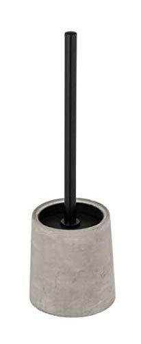 WENKO WC-Garnitur Villena, WC-Bürstenhalter, Grau, 11,5 x 38 x 11,5 cm