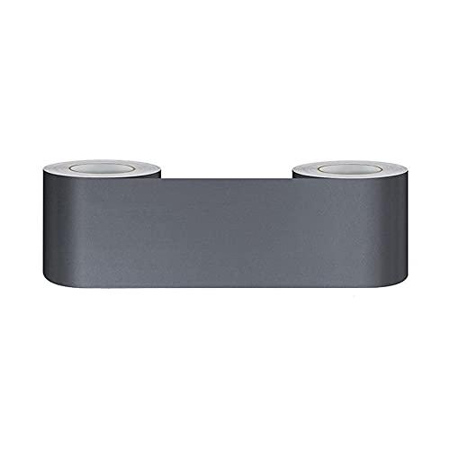 Bordüre selbstklebend grau 5x1000CM zum Aufkleben für Wohnzimmer Küche Badezimmer Tapetenrahmen Abnehmbare Wasserdicht Bodenleiste Verdicken PVC Dekorative Bordüre