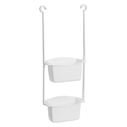 AmazonBasics - Estantería de ducha para colgar de barra o de cabezal