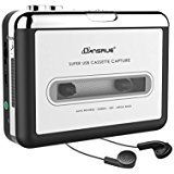 USB Cassette Player, Dansrue Cassette Tape To MP3 Converter Retro Walkman Audio Tape Capture To MP3 for Mac PC with Headphone USB Cable and Software