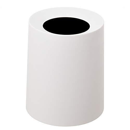 smilecstar prullenbak, tafelvuilnisemmer, dubbellaags design, rond, verdikking, eenvoudige mode, mooi Ø21 x 25 cm, wit