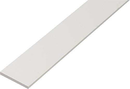 GAH Alberts 479435 Flachstange, Kunststoff, Farbe: weiß, L:2000mm, B:30mm, Stärke: 3,0mm