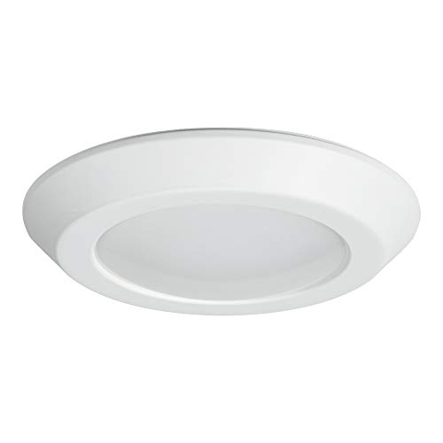 Halo BLD606930WHR BLD 6 in. White Integrated Recessed Ceiling Light Trim at 3000K Soft, Title 20 Compliant LED Direct Mount, 6u0022