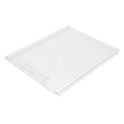 Rev-A-Shelf BDC-200-20 Small Kitchen Bread Cabinet Drawer Cover with Built In Handle and Adjustable Sliding Rails, Translucent (Cover Only)