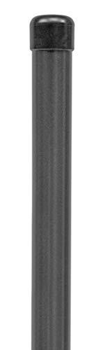 GAH-Alberts 617530 Zaunpfosten für Fix-Clip pro | für die Befestigung mit Einschlag-Bodenhülsen | zinkphosphatiert, anthrazit-metallic kunststoffbeschichtet | Länge 1750 mm | Schellen-Ø 34 mm
