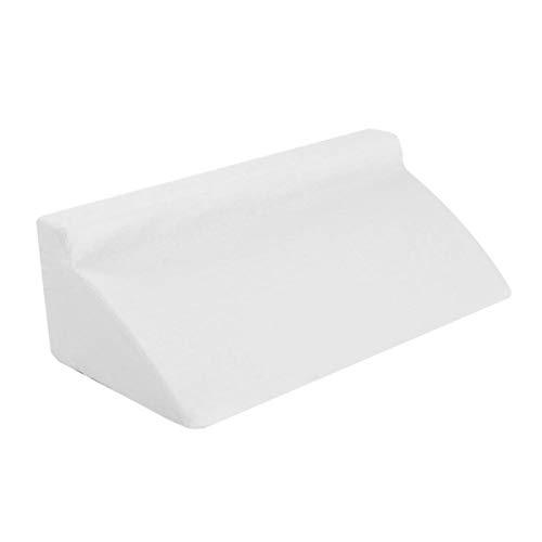 Emoshayoga Diseño humanizado de la Almohada de la cuña de la Almohada del Soporte de la Pierna para el Soporte Trasero de la Pierna(White)