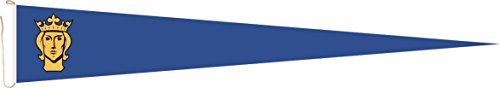 U24 Langwimpel Stockholm Fahne Flagge Wimpel 250 x 40 cm Premiumqualität