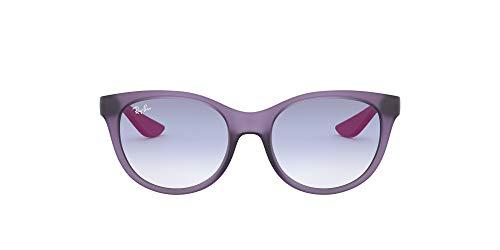Ray-Ban 0rj9068s Lentes oscuros, Goma Transparente Violeta/Transparente Degradado Azul Claro, 47 para Niñas