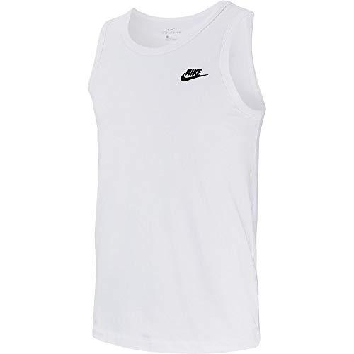 Nike M NSW Club–Débardeur pour Homme, Blanc (white/Black), XS
