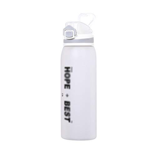 CYR Fitness Esmerilado Taza de Agua al Aire Libre Botella de Agua Deportiva Taza de Bloqueo Tapa de Rebote Botella de Agua Taza de plástico con Espacio,A,900ml